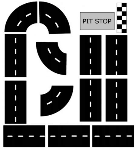 printable road pieces printable car track www pixshark com images galleries