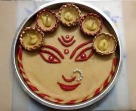 navratri decoration at home 1000 images about pooja ki thali and aarti ki thali on