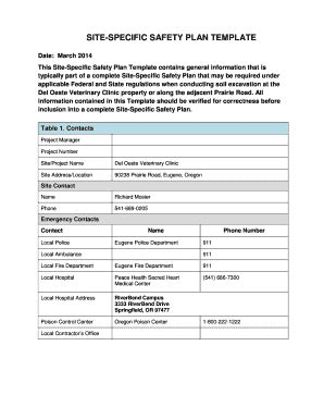 Fillable Online 20081219 3055 Ferc Pdf Unofficial 12192008 Fax Email Print Pdffiller Site Specific Safety Plan Template
