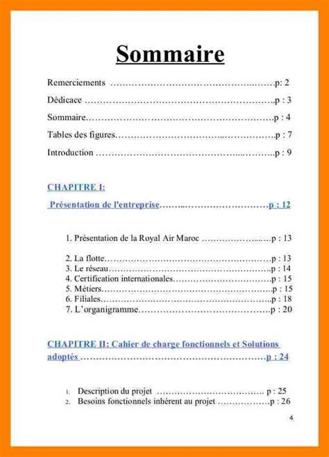exemple sommaire rapport de stage federacion