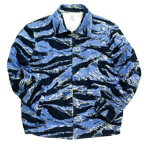Jaket Blue Tiger andfamily アンドファミリー souvenir jacket blue tiger スーベニアジャケット