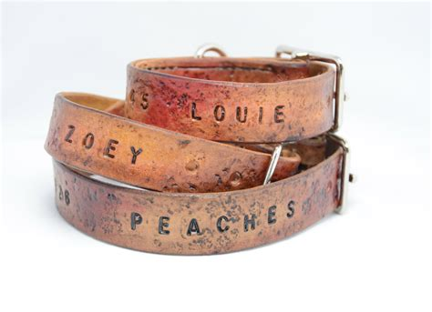 personalized harness salukifeathers leather collar custom tooled creations