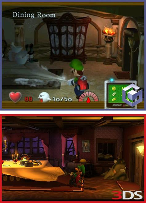 Luigi S Mansion A 4 Dining Room Luigi S Mansion One Decade Later With Moon Ign