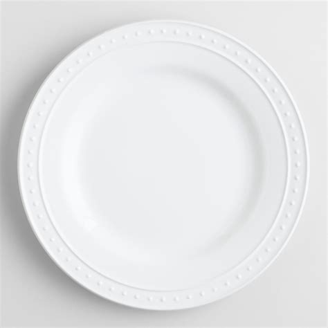 white nantucket dinner plates set of 4 world market