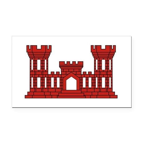 design engineer newcastle army engineer red castle rectangle car magnet by