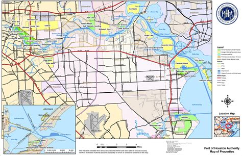 port texas map port of houston map