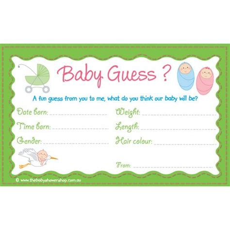 guess the baby weight template best photos of baby shower guess weight baby