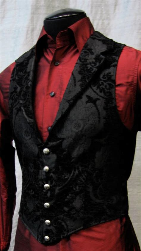 black suit red shirt with vest shrine of hollywood