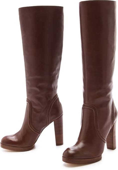 kors by michael kors aila high heel boots in brown mocha
