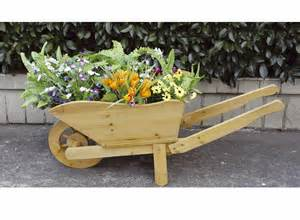 wooden wheelbarrow planter buydirect4u