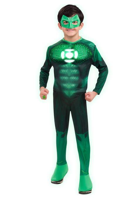 Kids Light Up Green Lantern Costume Light Up Costume
