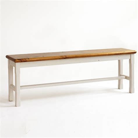 pine wood bench boddem dining bench in white pine wood cottage style 25357