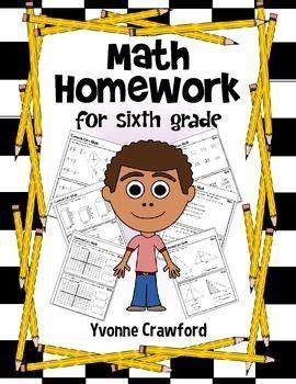 homework for sixth grade math homework and math