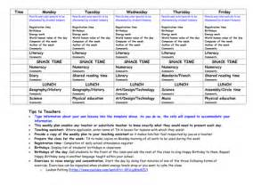 weekly lesson planning template weekly lesson plan template with tips by zenuzek