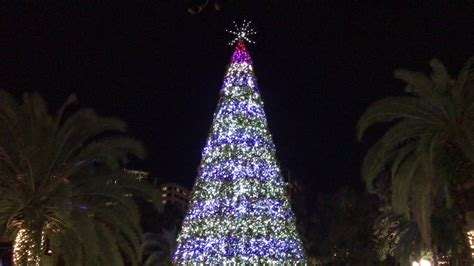 lake eola christmas tree lighting 2017 youtube