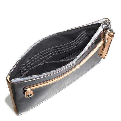 Coach Clutch 2 Coach Poppy Clutch In Mirror Metallic Leather In