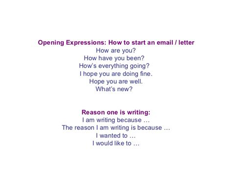 business letter you are doing well ppt an informal letter