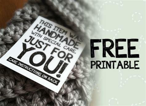 Labels For Handmade Crochet Items - printable labels for handmade items monkeys