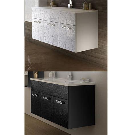 arredo bagno bianco arredo da bagno milos da 100 cm sospeso bianco o nero