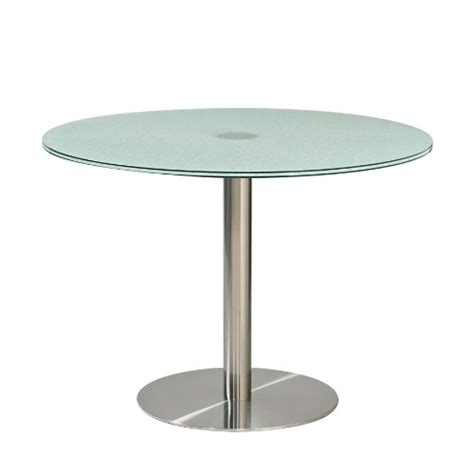 Glass Dining Table Base Pedestal 2012 Order Now 42 Inch Dining Table With Crackled Glass Top And Brushed Metal Pedestal