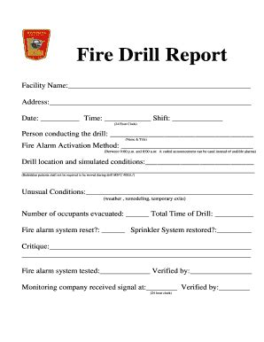 evacuation drill report template printable drill report form fill printable