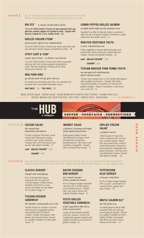 top of the hub bar menu 35 beautiful restaurant menu designs inspirationfeed