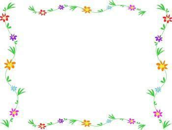 May Borders Clipart by Free Simple Flower Page Border Designs Free Clip