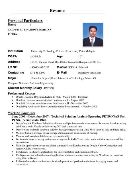 cara membuat resume kerja kerani contoh resume interview kerajaan gontoh