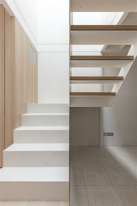 escaleras interiores indoors and outdoors blur together to maximise space in