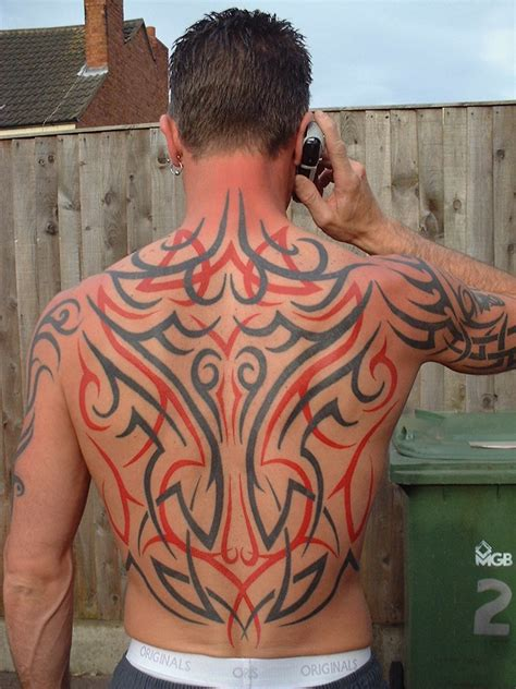 tribal tattoos for black skin tribal back by skin vs ink on deviantart