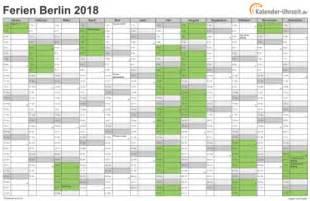 Kalender 2018 Zum Ausdrucken Ferien Ferien Berlin 2018 Ferienkalender Zum Ausdrucken
