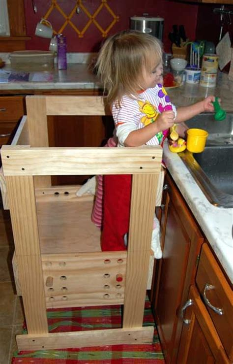 kitchen helper stool pattern diy learning tower design this then the are