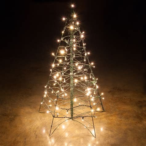 lighted warm white led outdoor tree