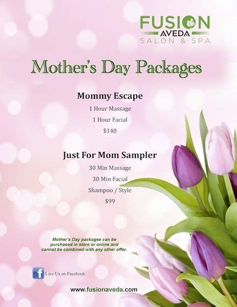 hair dresser s day fusion salon and spa mother s day packages