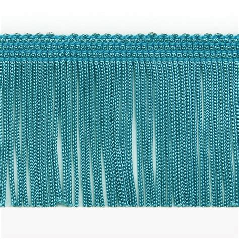upholstery trimming 4 quot chainette fringe trim turquoise discount designer