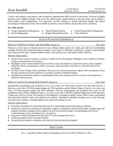 special events manager resume security guards companies