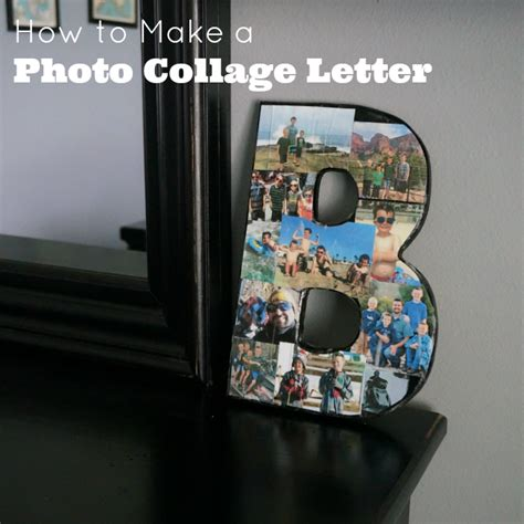 how to make a photo collage letter