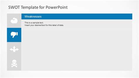 powerpoint swot template simple swot powerpoint template slidemodel