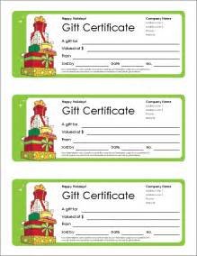 Gift Certificate Free Templates by Free Gift Certificate Template And Tracking Log
