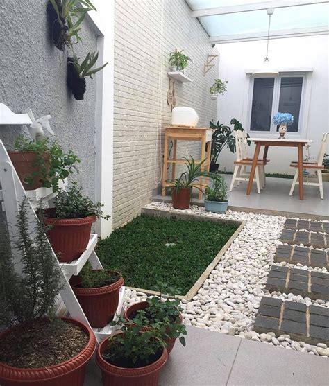 desain rumah asri taman minimalis didalam rumah nuansa asri romantis keren