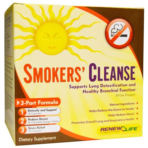 Tobacco Detox Tablets by Renew Smokers Cleanse 1 Kit Evitamins