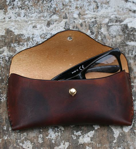 Handmade Glasses - handmade leather glasses by ksleathercraft