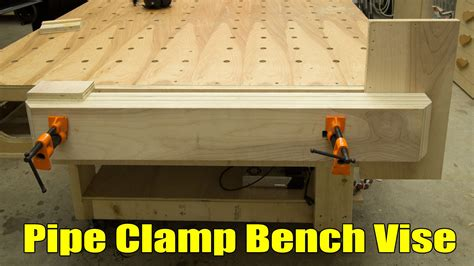 Pipe Clamp Bench Vise Easy Strong Huge Pipe Clamp Workbench Vise Jays Custom