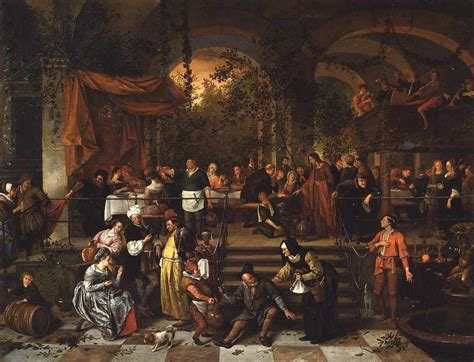 Who Painted The Wedding At Cana by The Wedding Feast At Cana Jan Steen Painting