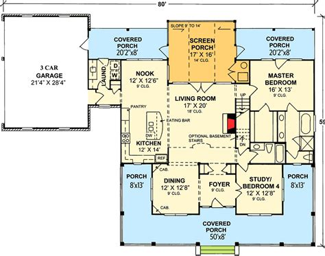 country floor plans with porches country home plan with marvelous porches 4122wm 1st floor master suite bonus room cad