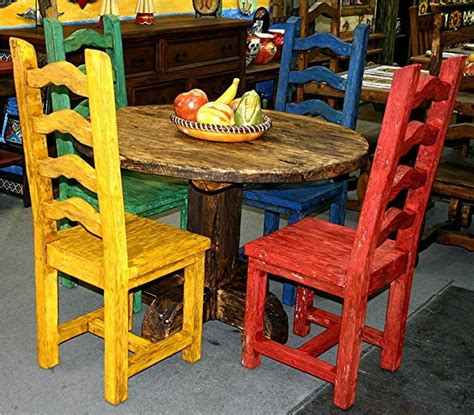 mexican painted chairs mexican buffet furniture large 2 hutch w glass