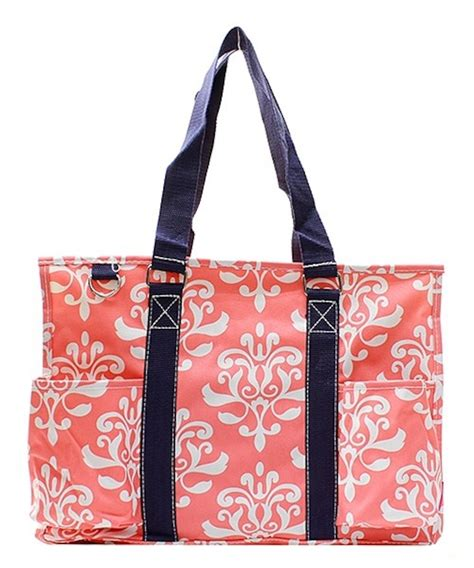 15 quot large zip top organizing utility tote bag canvas