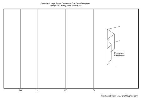 templates for accordian cards millers small to large panel accordian fold card template