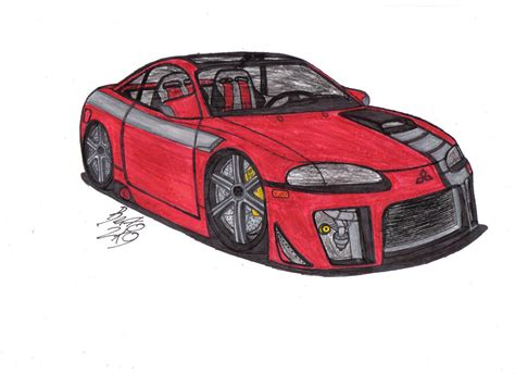 mitsubishi eclipse drawing mitsubishi eclipse gs t by mister lou on deviantart