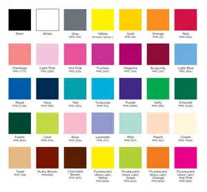 color chart sa feather company